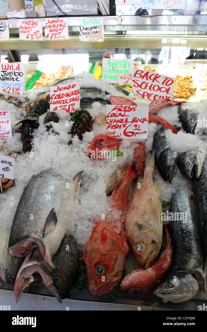 Fishmongers, Fishmonger, USA Stock Photo