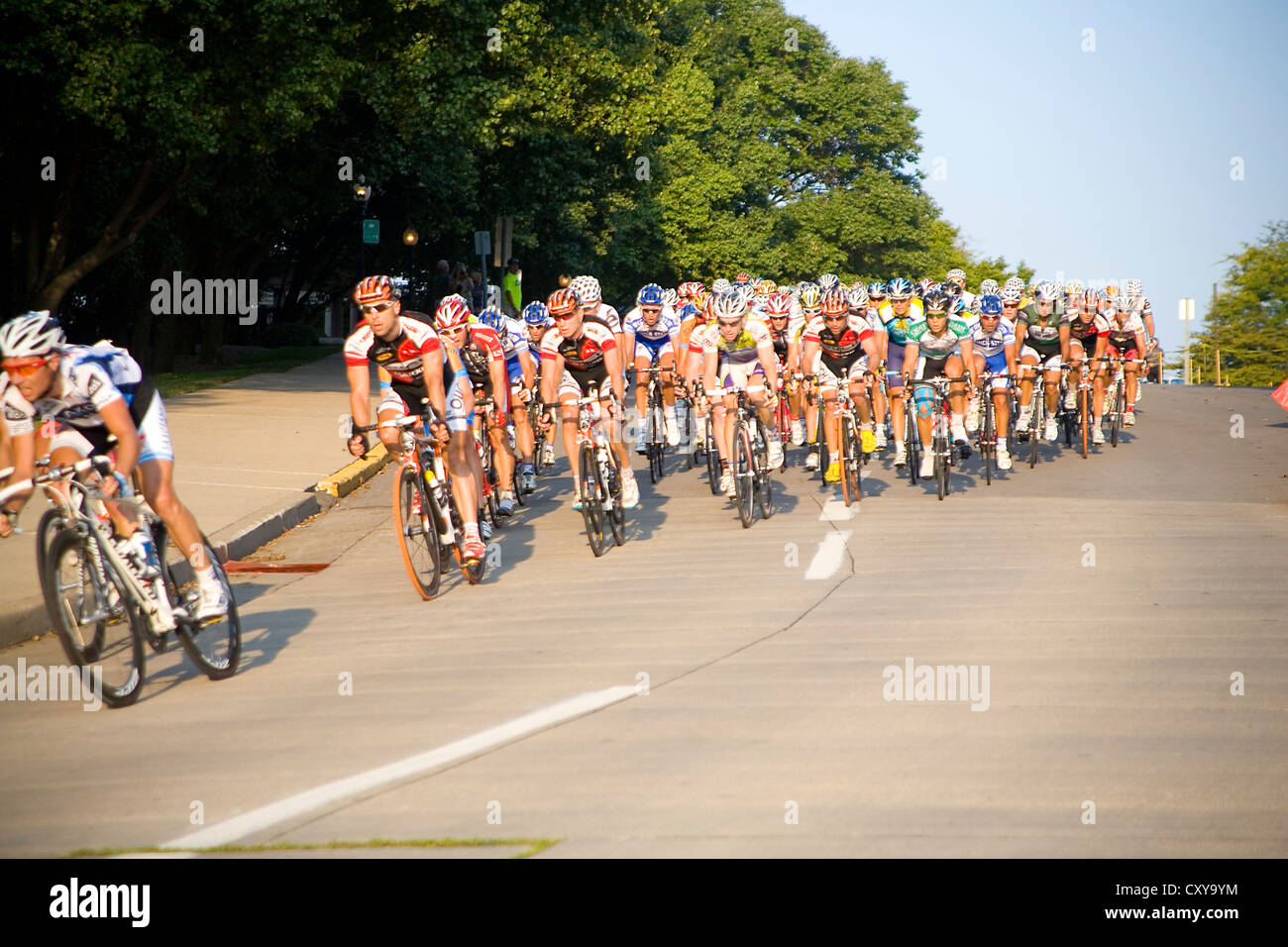 Tour of Missouri bike race - Stock Image