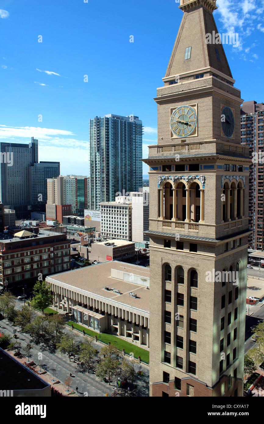 Denver showing Daniels & Fisher Tower, Downtown Denver, Colorado, USA - Stock Image