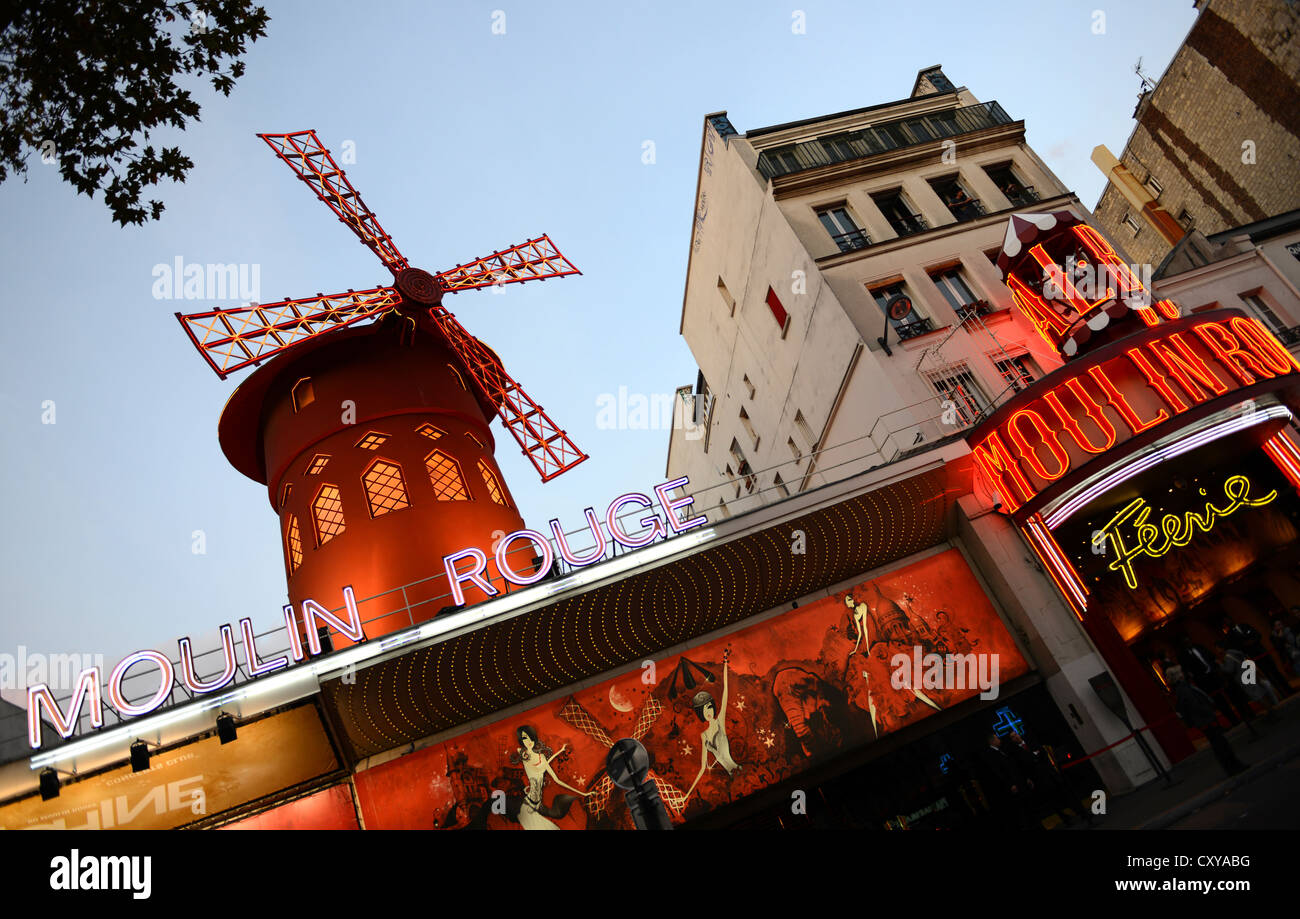 Moulin Rouge, Paris, France - Stock Image