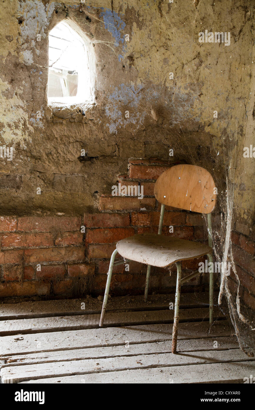 chair and cobweb - Stock Image