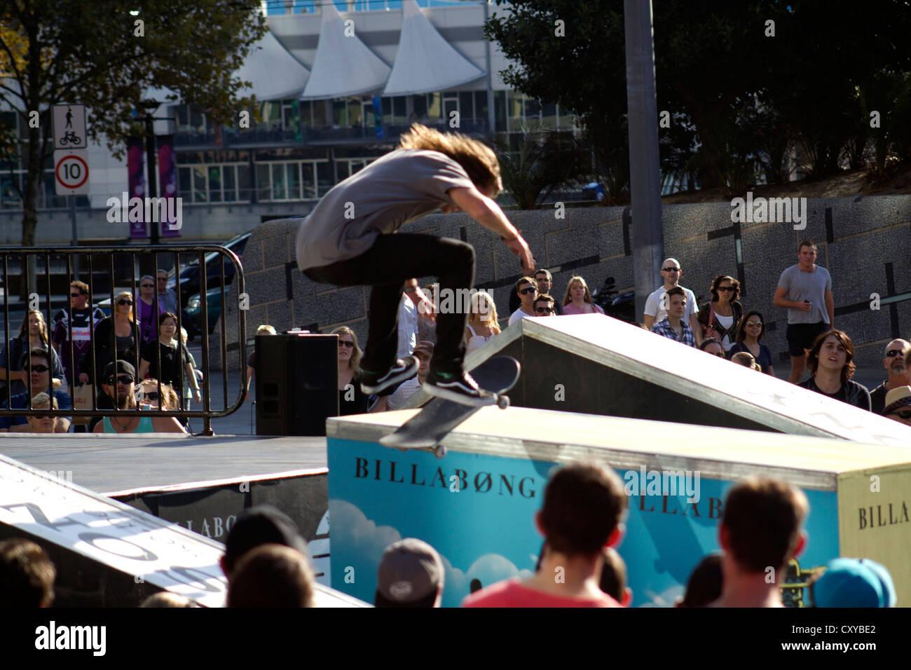 Billabong skate boarding championships Melbourne 2012 - Stock Image