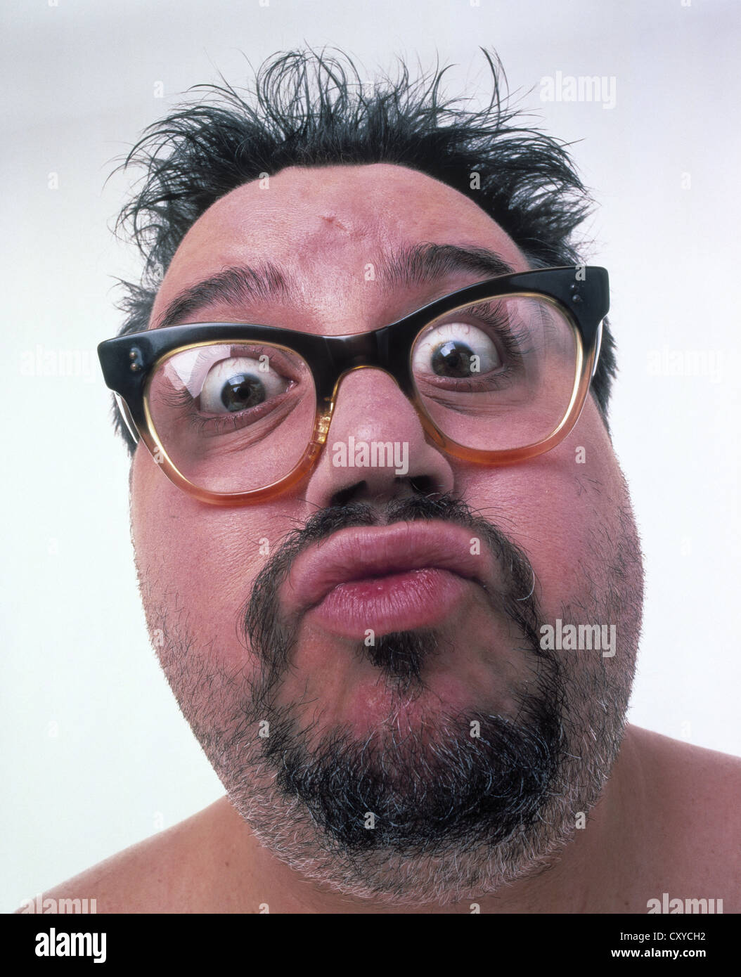 Naked old men with glasses