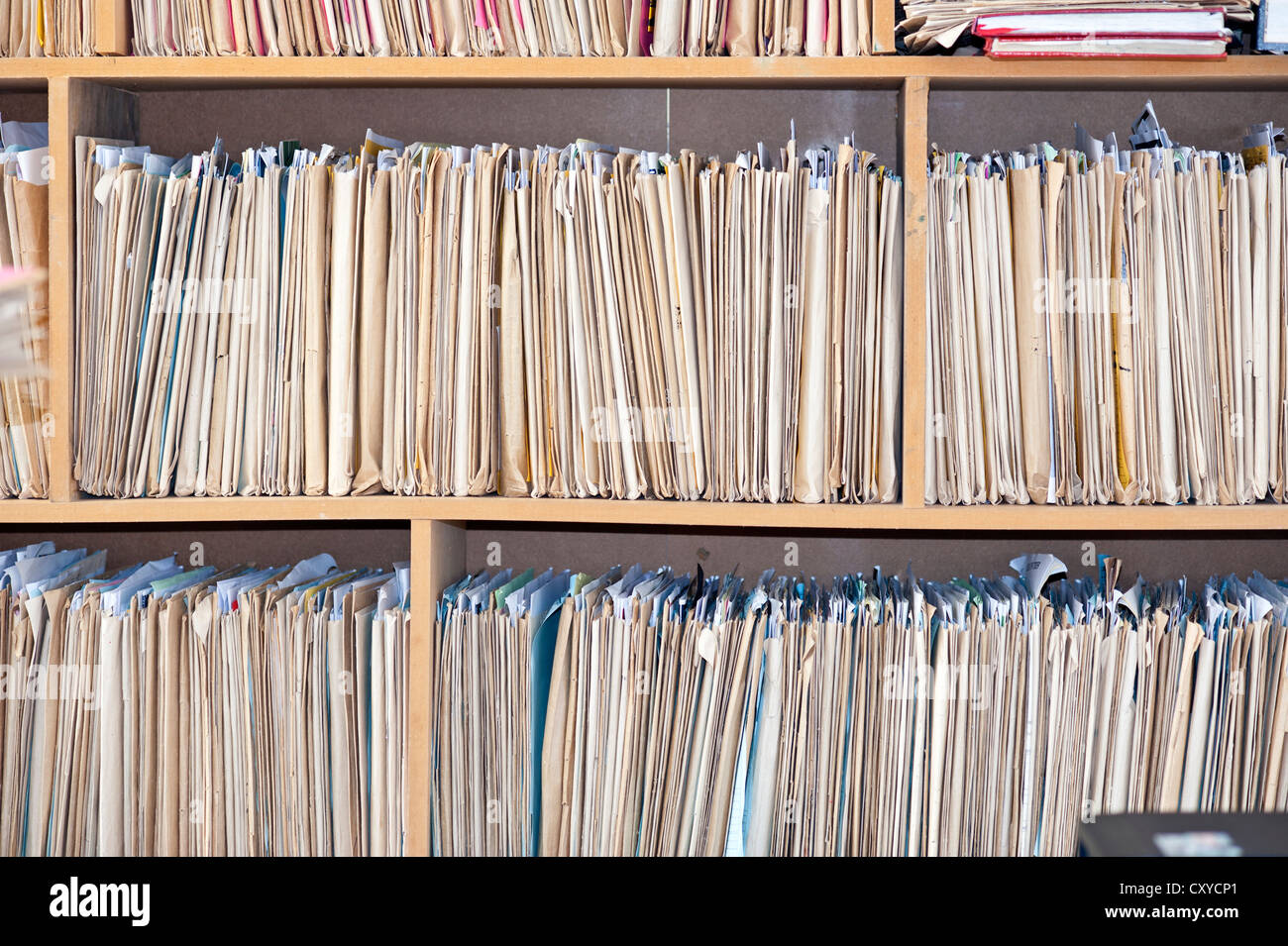 Old files, archive - Stock Image