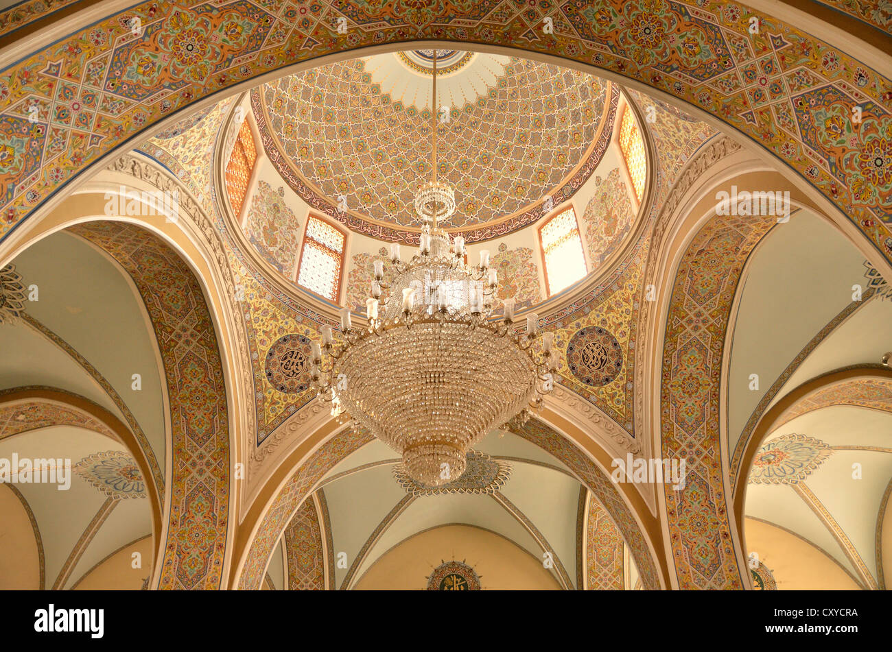 Dome of the Friday Mosque in the historic town centre of Baku, UNESCO World Heritage Site, Azerbaijan, Caucasus, - Stock Image