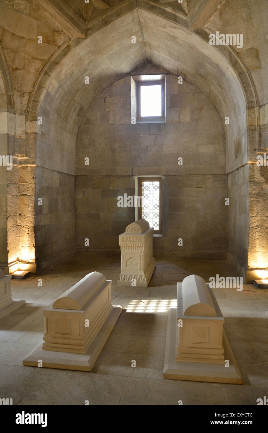Mausoleum in the Palace of the Shirvanshahs from the 14th century, Baku, Azerbaijan, Caucasus, Middle East, Asia - Stock Image