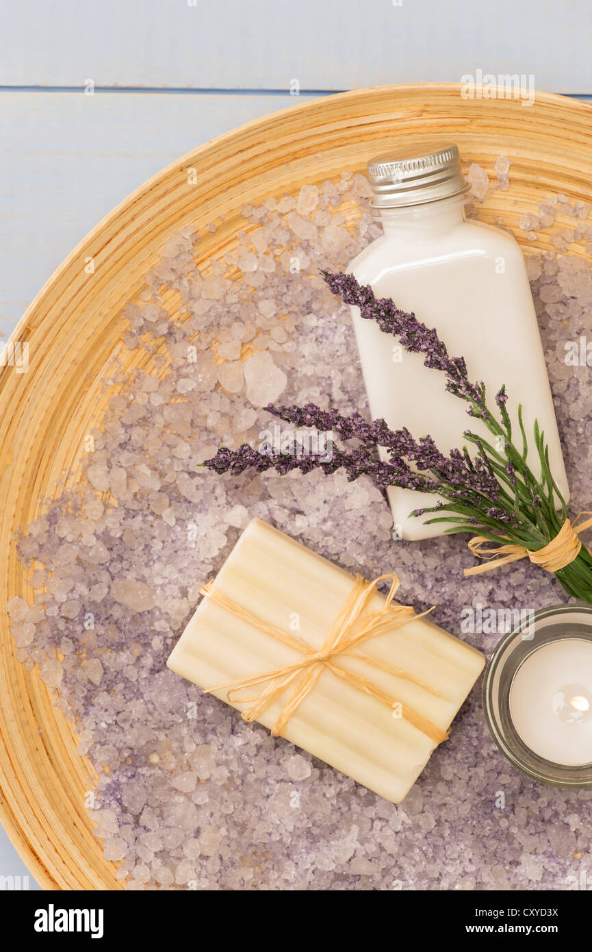Provence Style Aromatherapy Lavender Cosmetic Products On