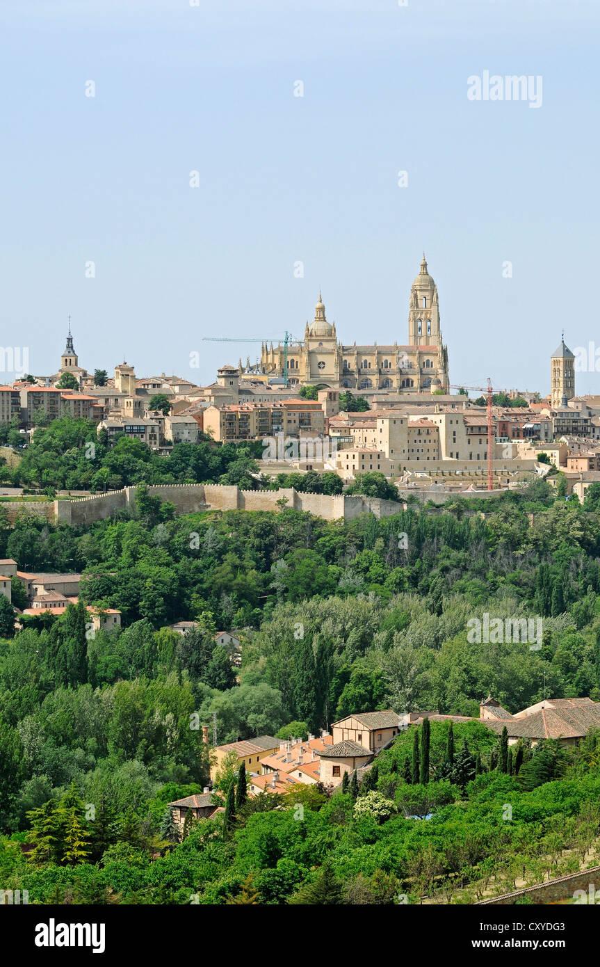 Segovia Cathedral, Segovia, Castilla y Leon, Castile and León, Spain, Europe, PublicGround - Stock Image