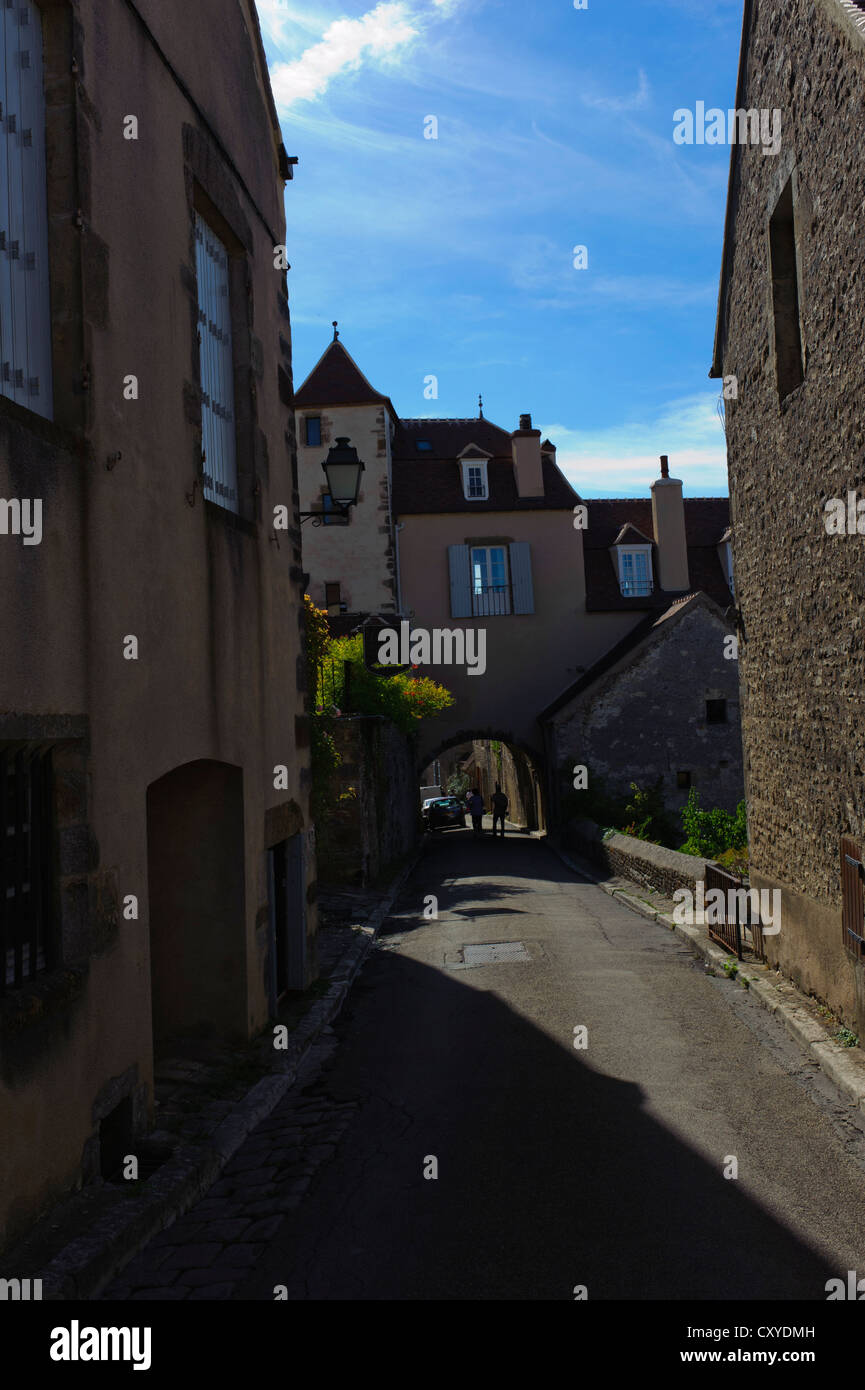 Vezelay, Archway Stock Photo