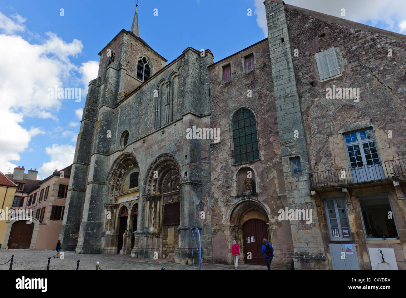 Church of St Lazare, Avallon - Stock Image