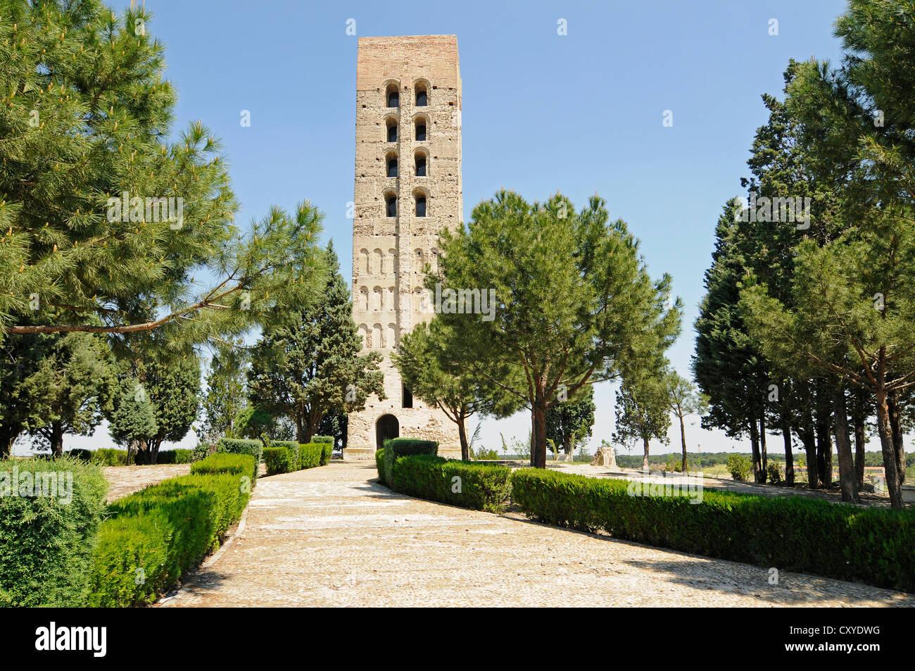 Toore Mudejar, Moorish tower, Coca, Segovia province, Castile and León, Spain, Europe, PublicGround - Stock Image