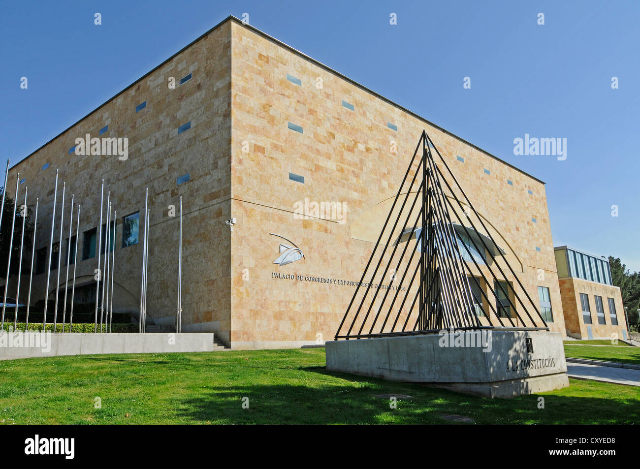 Congress centre, exhibitions centre, Salamanca, Castile-Leon, Spain, Europe, PublicGround - Stock Image
