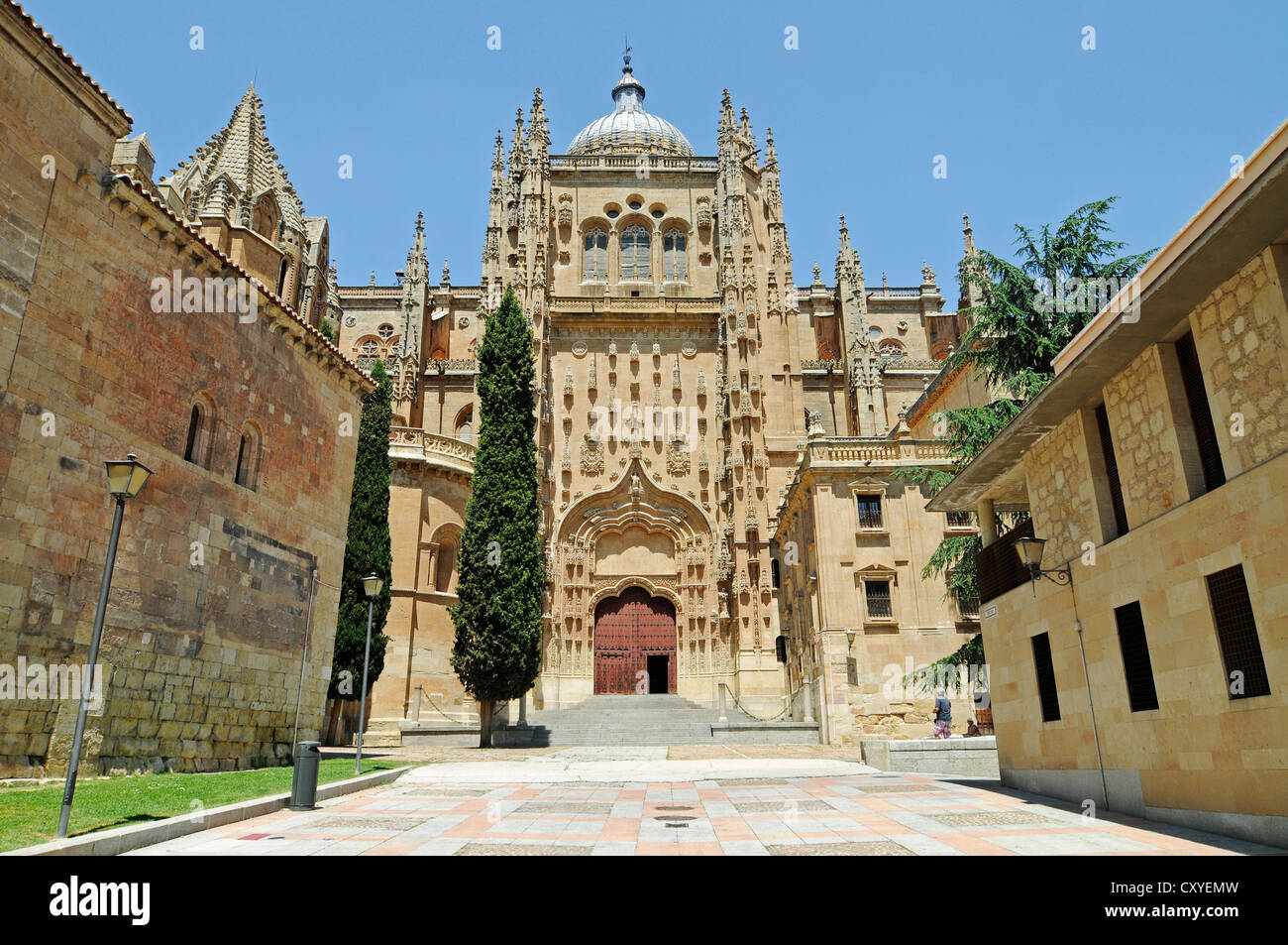 Old Cathedral, Salamanca, Castile-Leon, Spain, Europe, PublicGround - Stock Image