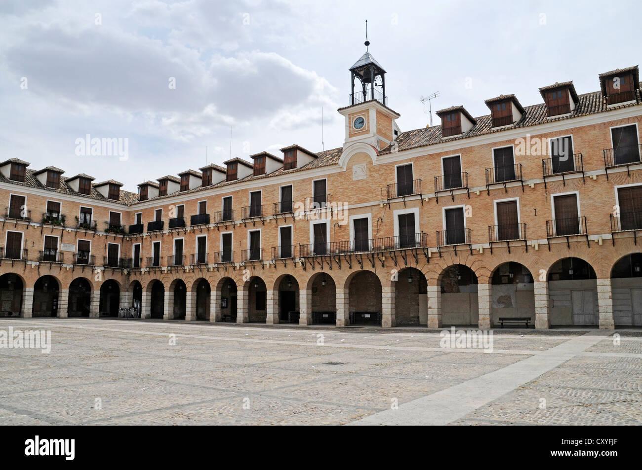 Arcades, Plaza Mayor square, Ocana, Castilla-La Mancha, Castile, Spain, Europe, PublicGround - Stock Image