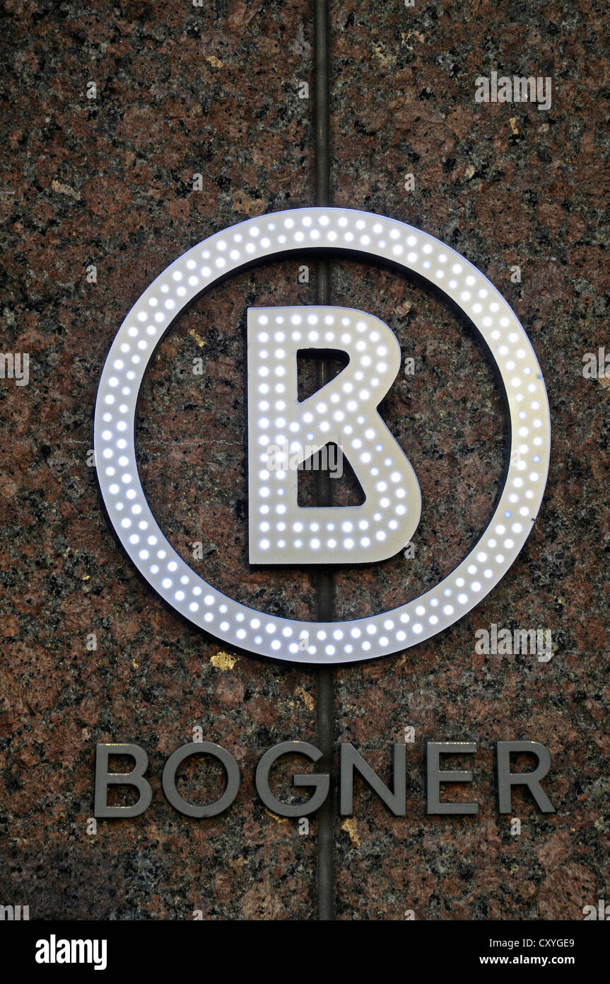look out for official site discount sale Bogner, logo, fashion company, Koenigsallee shopping street ...
