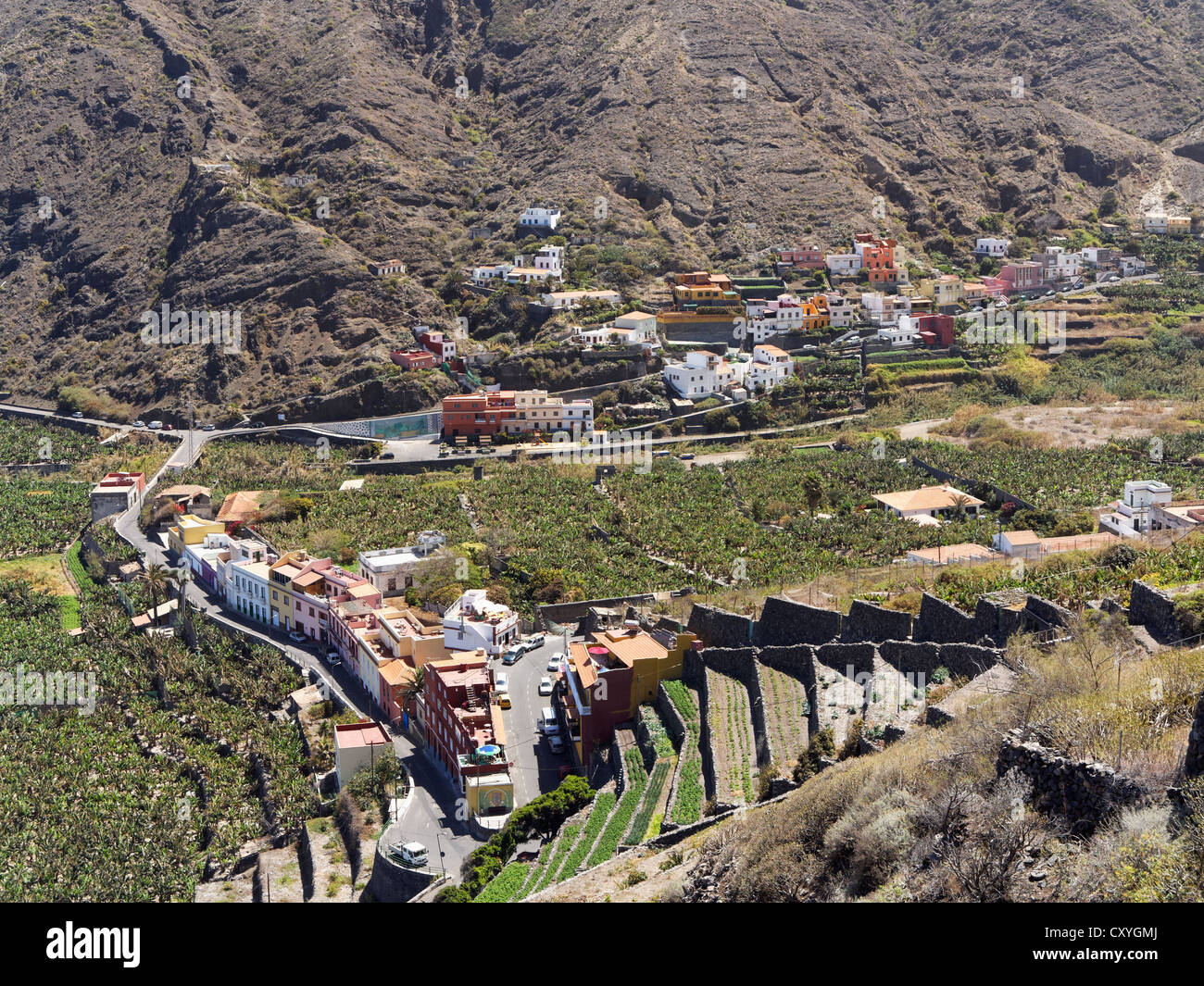 Districts of Santa Catalina and Los Pedazitos, Hermigua, La Gomera, Canary Islands, Spain, Europe - Stock Image