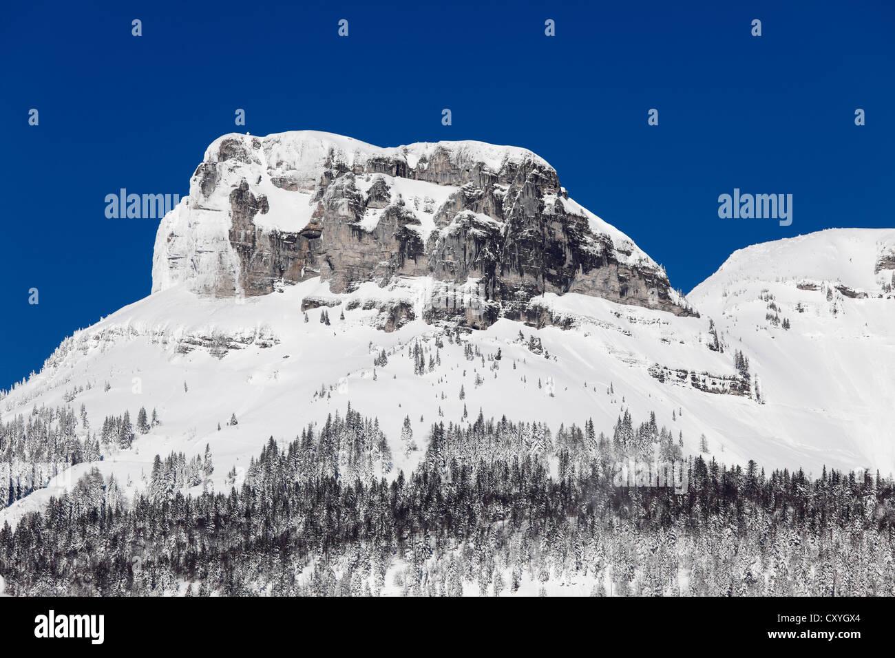 Loser Mountain, Dead Mountains, view from Lake Altaussee, Ausseerland, Salzkammergut, Styria, Austria, Europe - Stock Image