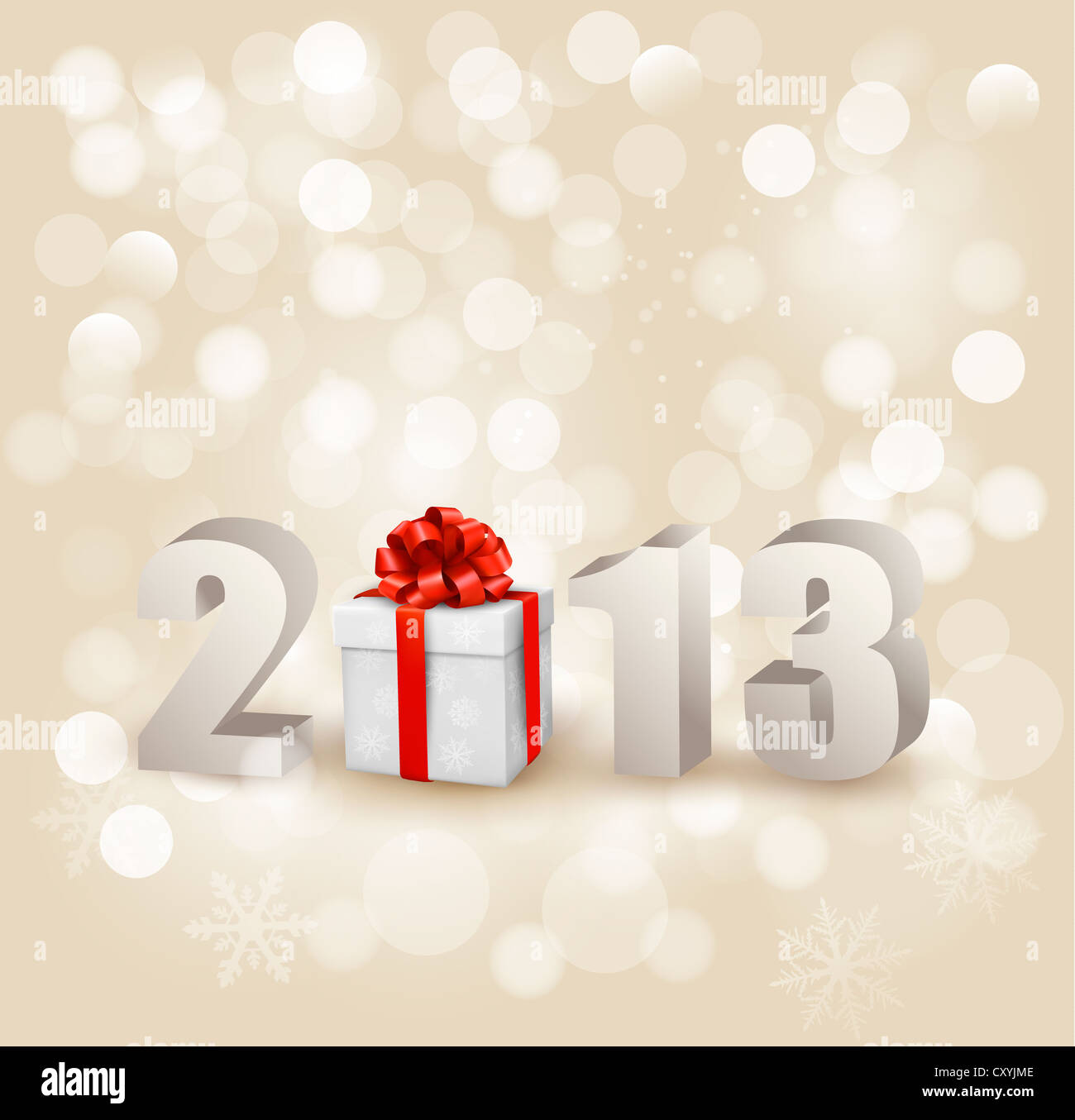 Happy new year 2013! New year design template. - Stock Image