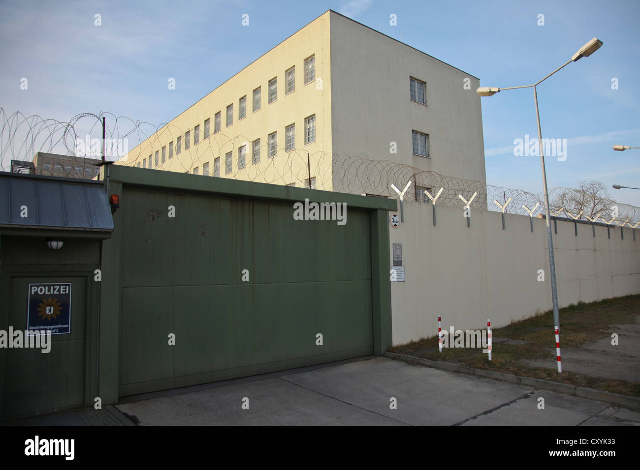 Central Berlin detention centre in Koepenick quarter, Berlin - Stock Image