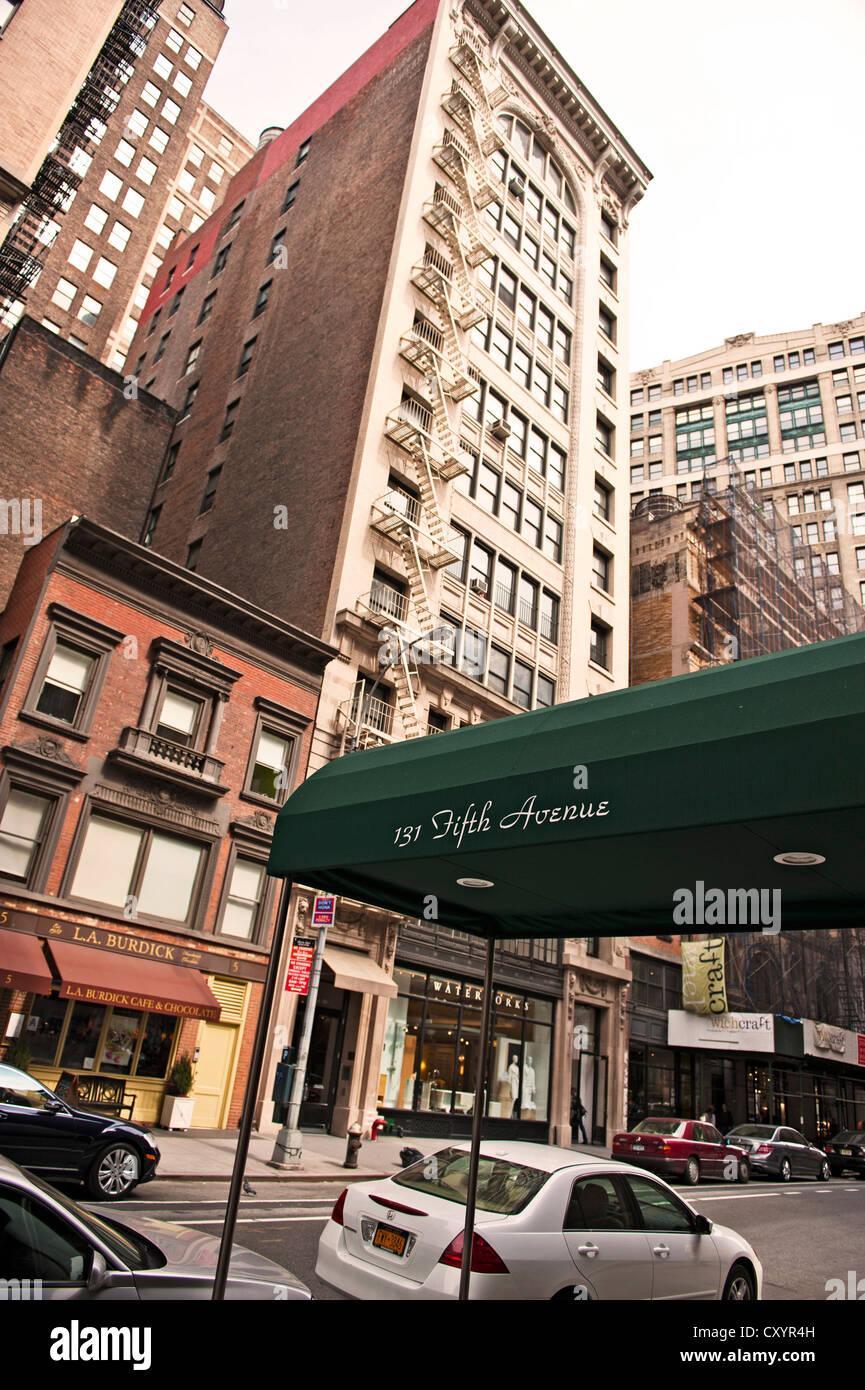 5th Avenue, 20th Street, Manhattan, New York City, New York, USA - Stock Image