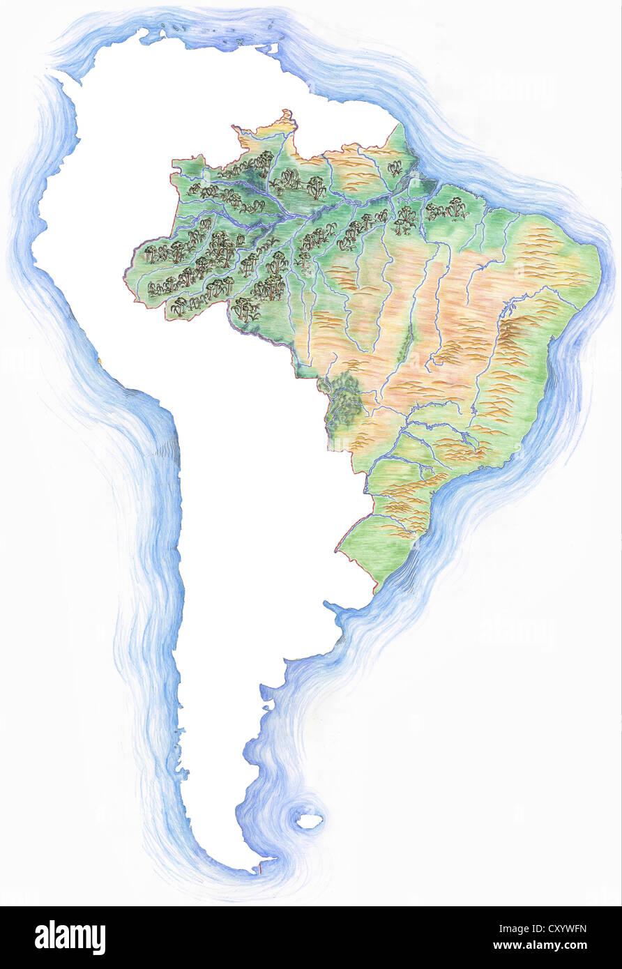 Picture of: Map Brazil High Resolution Stock Photography And Images Alamy