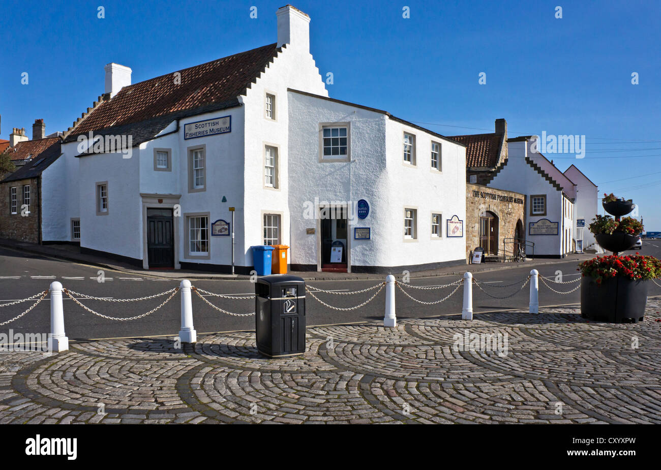 The Scottish Fisheries Museum in the harbour in Anstruther Fife Scotland - Stock Image