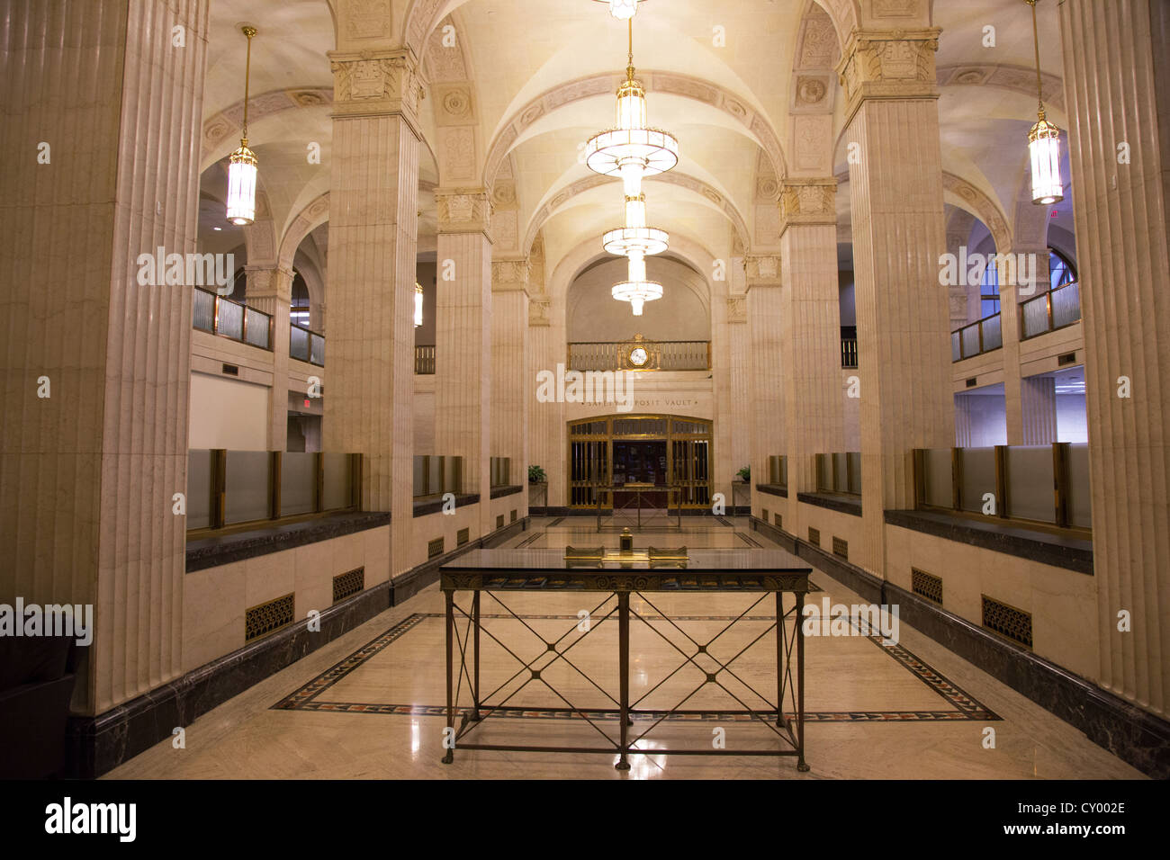 Art Deco Bank.Vintage Art Deco Bank Interior Stock Photo 51016518 Alamy