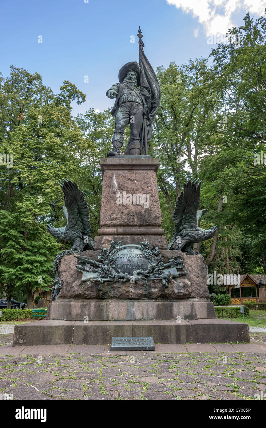 Andreas Hofer monument, freedom fighter and national hero, supreme commander in the Tyrolean freedom battles, at - Stock Image
