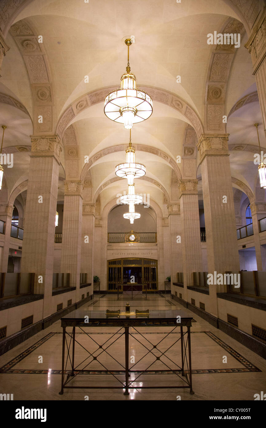 Art Deco Bank.Vintage Art Deco Bank Interior Stock Photo 51016612 Alamy