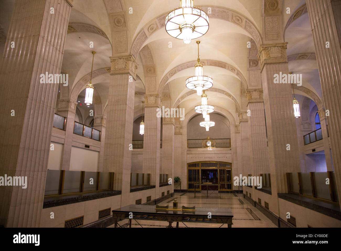 Art Deco Bank.Vintage Art Deco Bank Interior Stock Photo 51016826 Alamy