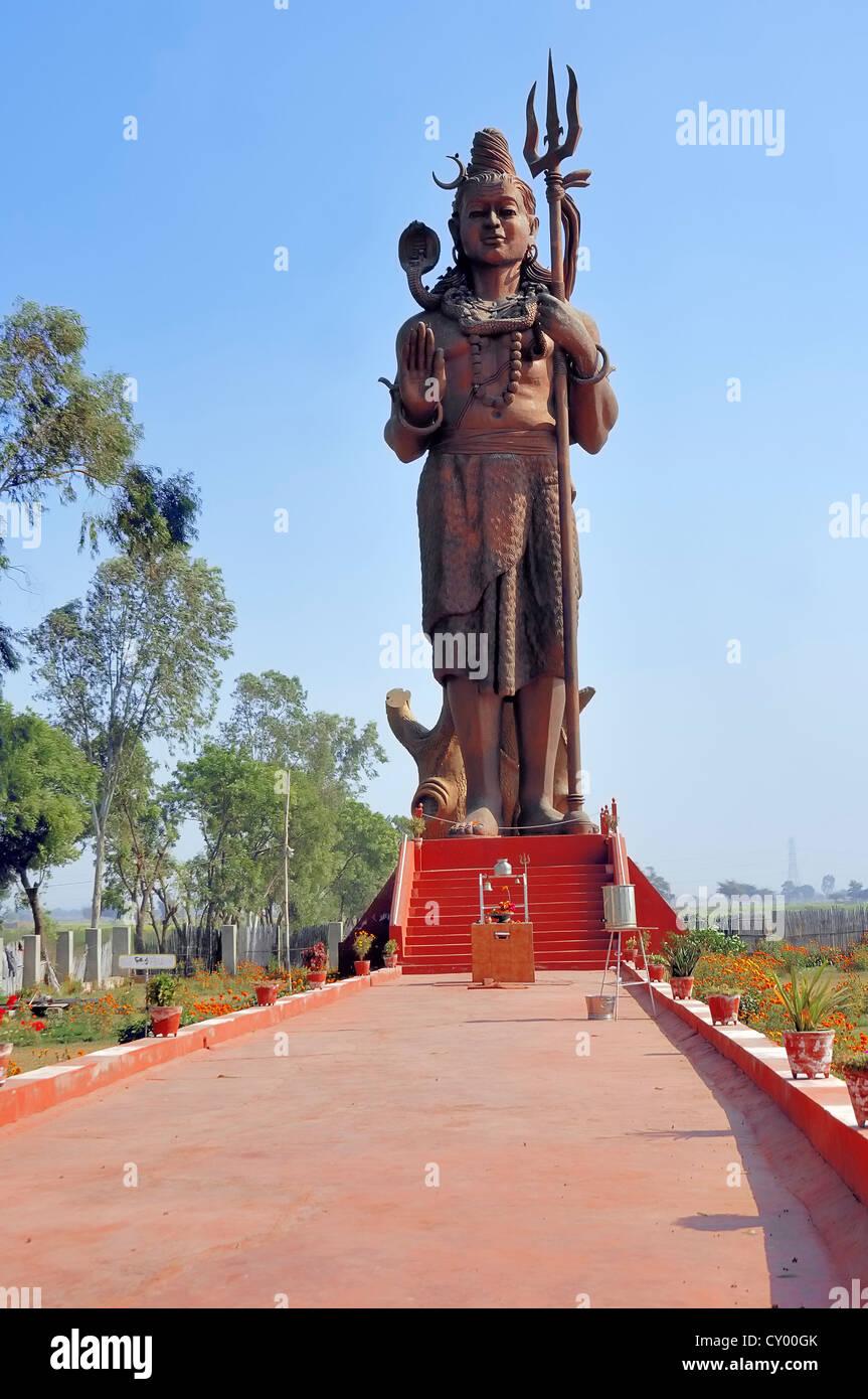 Statue of the Hindu God Shiva or Lord Shiva, near New Delhi, India, Asia - Stock Image