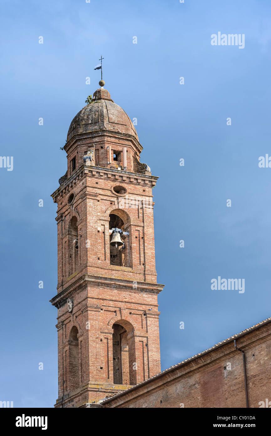 Steeple, historic district, Siena, Tuscany, Italy, Europe Stock Photo