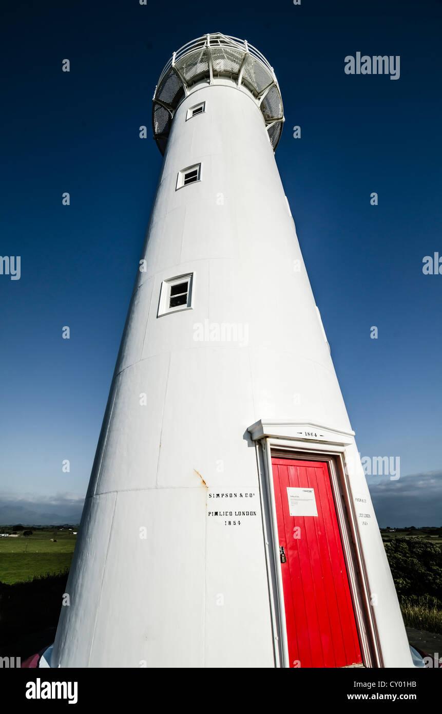 Lighthouse at Cape Egmont, North Island, New Zealand - Stock Image