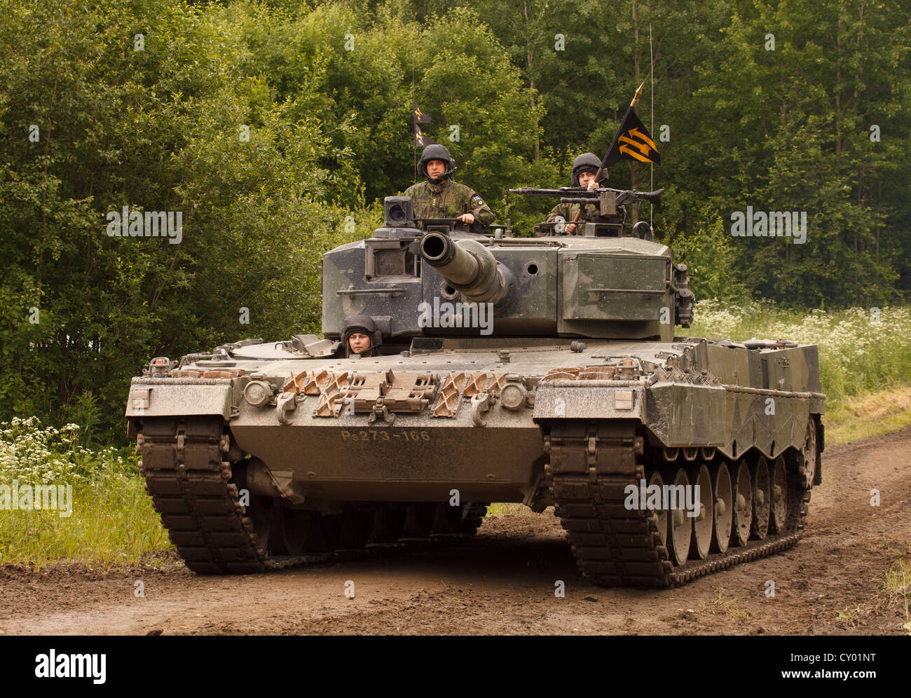 Leopard 2 A4 main battle tank of the Finnish Army. - Stock Image