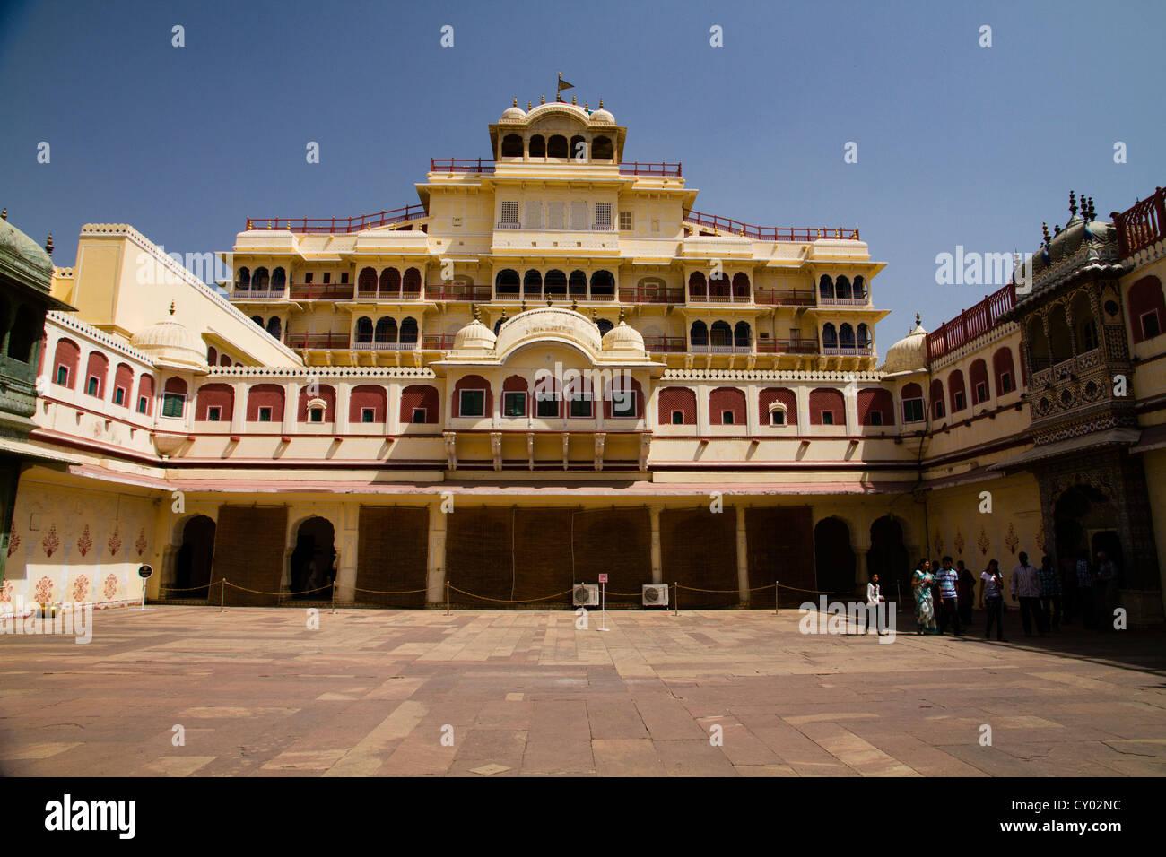 Chandra Mahal, City Palace, Jaipur, the Pink City, Rajasthan, India, Asia Stock Photo