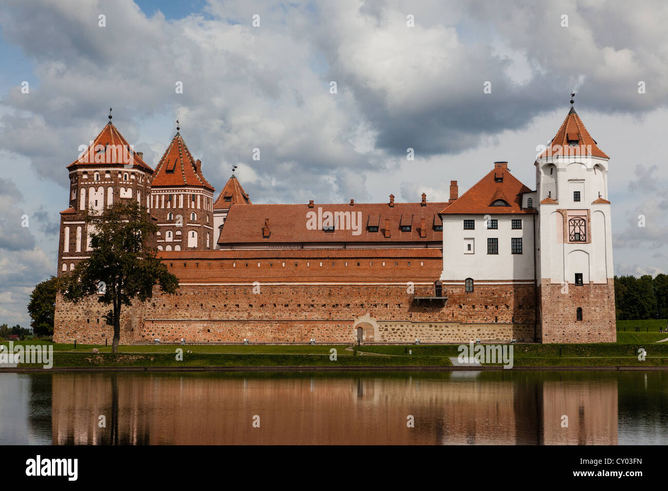 Mirsky Castle Complex (also known as Mir Castle) in Belarus. - Stock Image