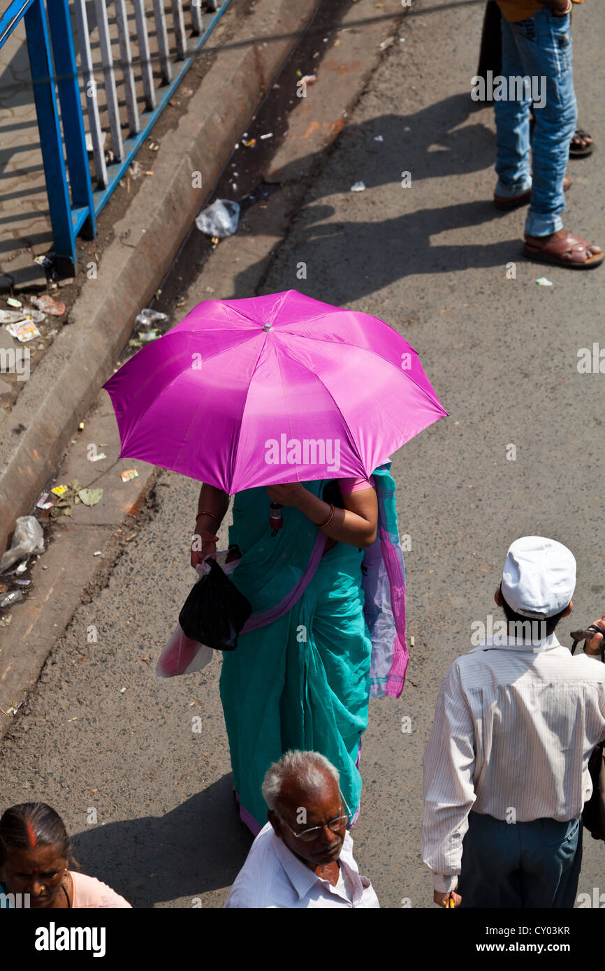Typical Street Life in Kolkata, India - Stock Image