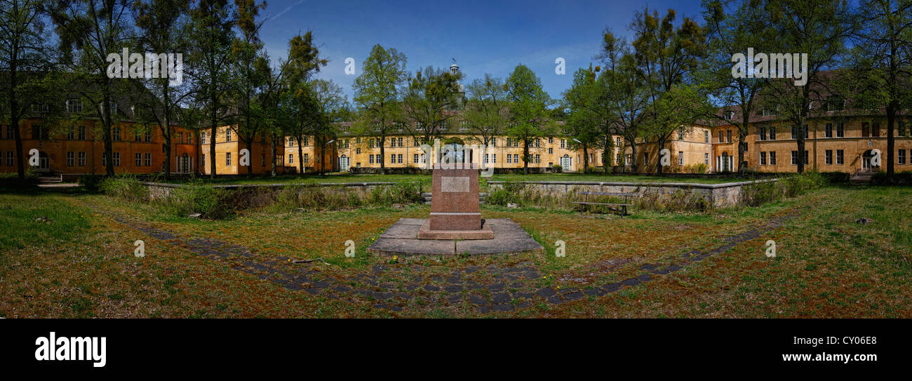 180° panoramic view, former Joachimsthalsches Gymnasium, Joachimsthal grammar school, Prenzlauer Avenue, Templin, - Stock Image