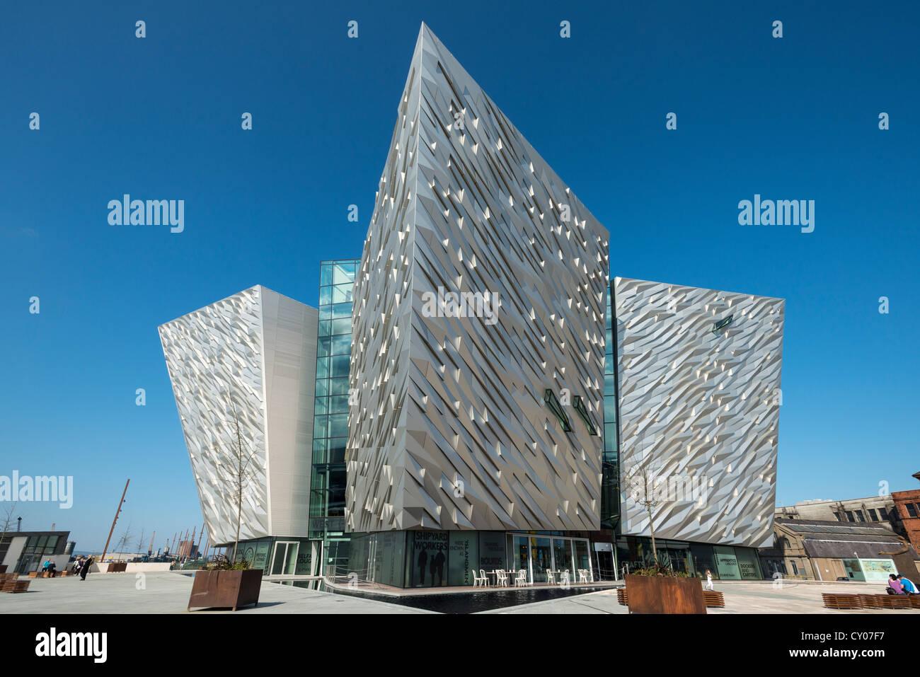 Titanic Museum, Titanic docks, Belfast, Northern Ireland, United Kingdom, Europe - Stock Image