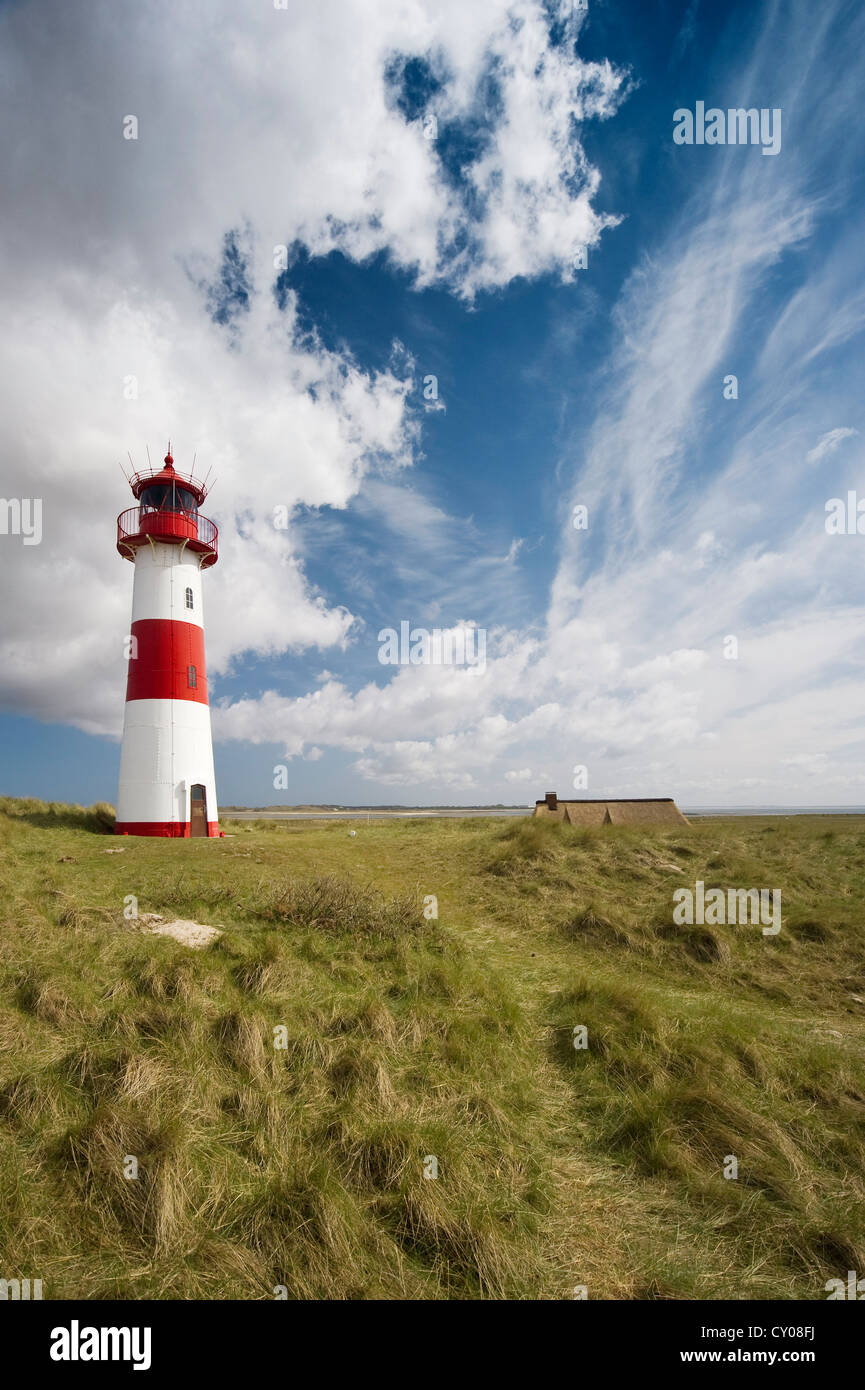 Western Lighthouse of List, Ellenbogen, List, Sylt, Schleswig-Holstein - Stock Image