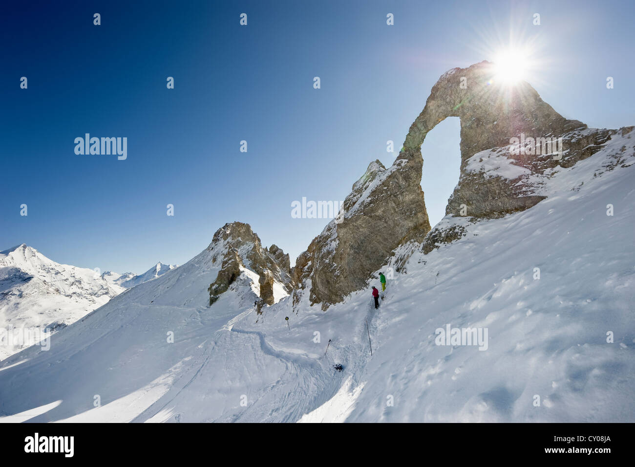 Aiguille Percee, Tignes, Val d'Isere, Savoie, Alps, France, Europe - Stock Image