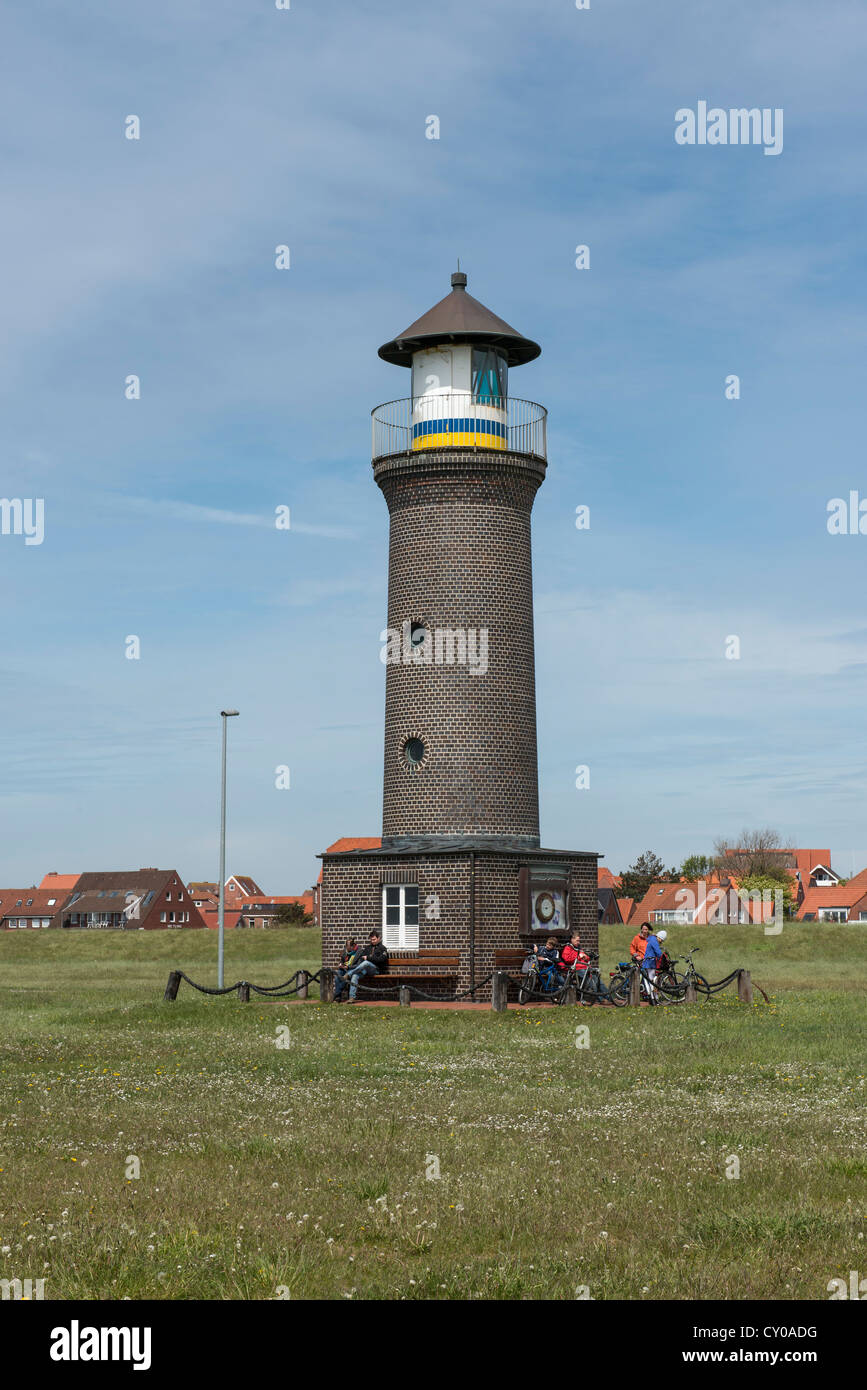Memmertfeuer, lighthouse without significance for shipping, Juist, East Frisian island, Lower Saxony Stock Photo