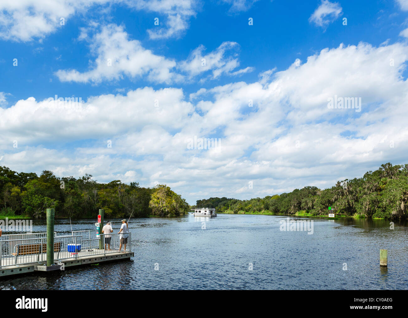 The St Johns River in Blue Spring State Park, near Orange City, Central Florida, USA - Stock Image