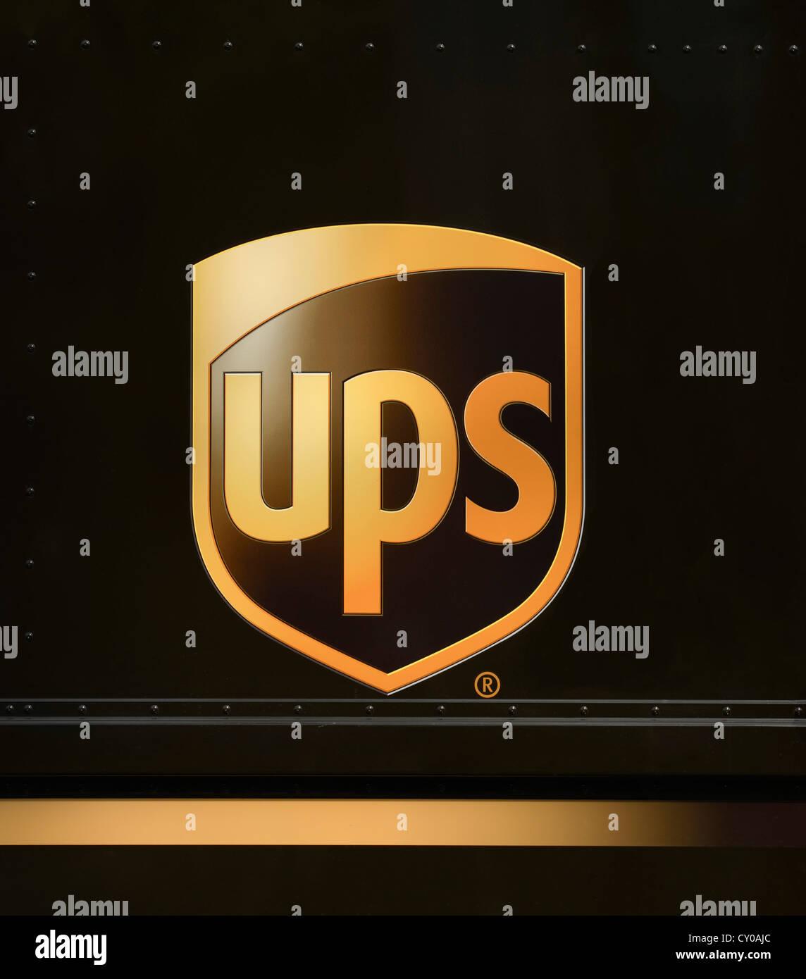 Logo, UPS, United Parcel Service - Stock Image