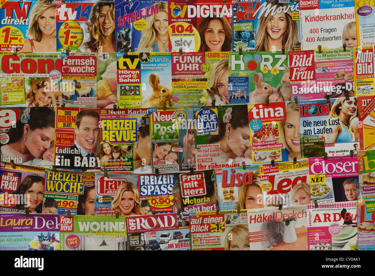 German magazines, PublicGround - Stock Image