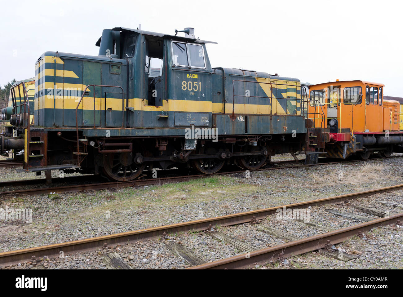 out of service locomotives Stock Photo
