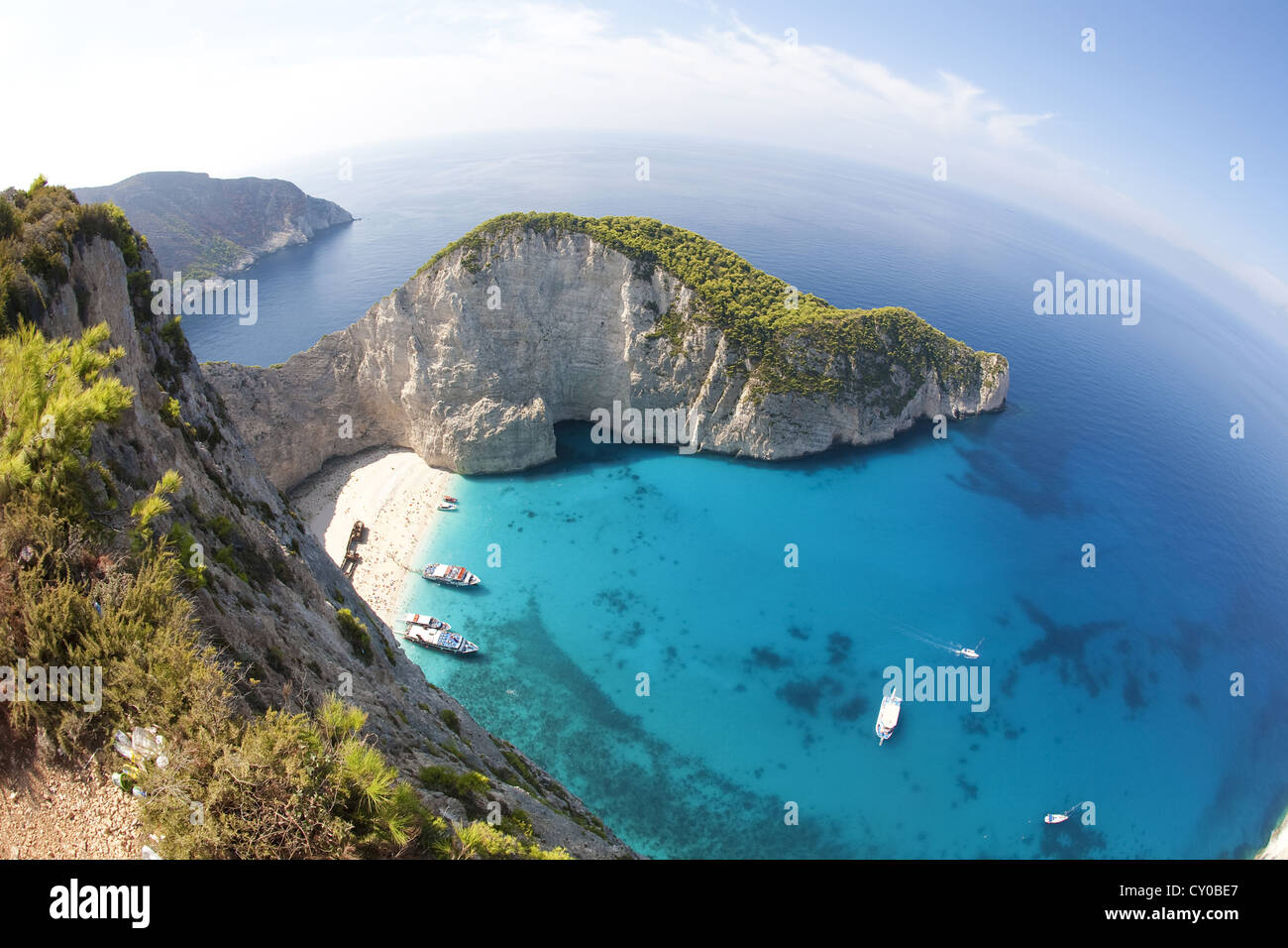 Shipwreck Bay, Zakynthos, Greece, Europe - Stock Image