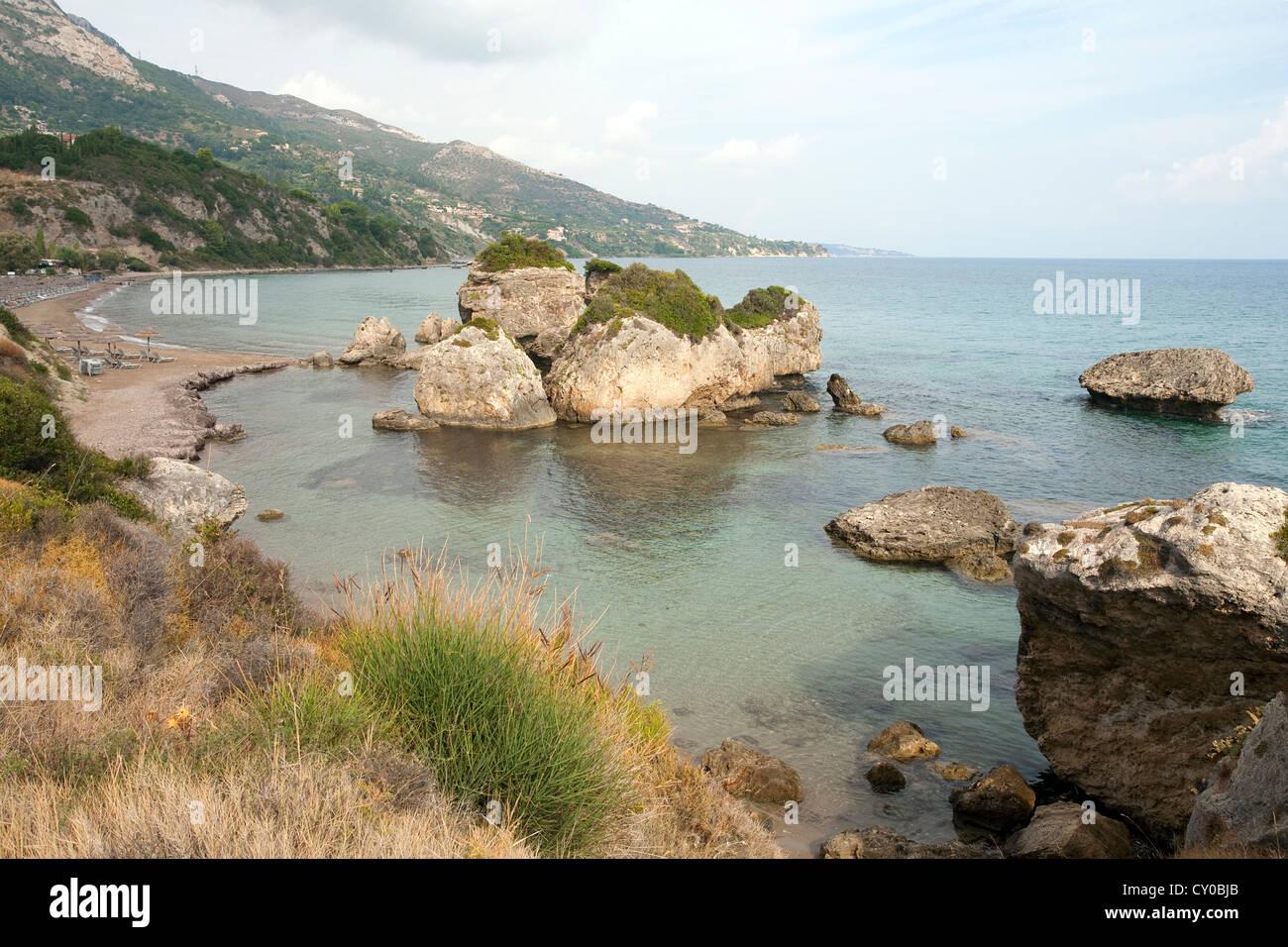 Beach of Porto Zoro, Zakynthos island, Greece, Europe - Stock Image