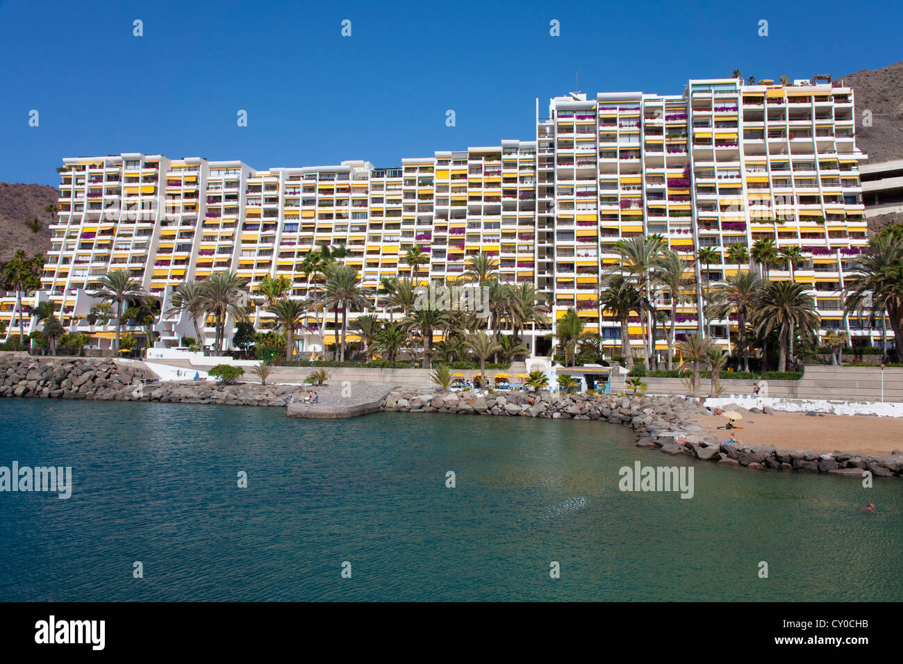 Hotel complex of Anfi del Mar, Arguineguin, Gran Canaria, Canary Islands, Spain, Europe, Atlantic Ocean - Stock Image