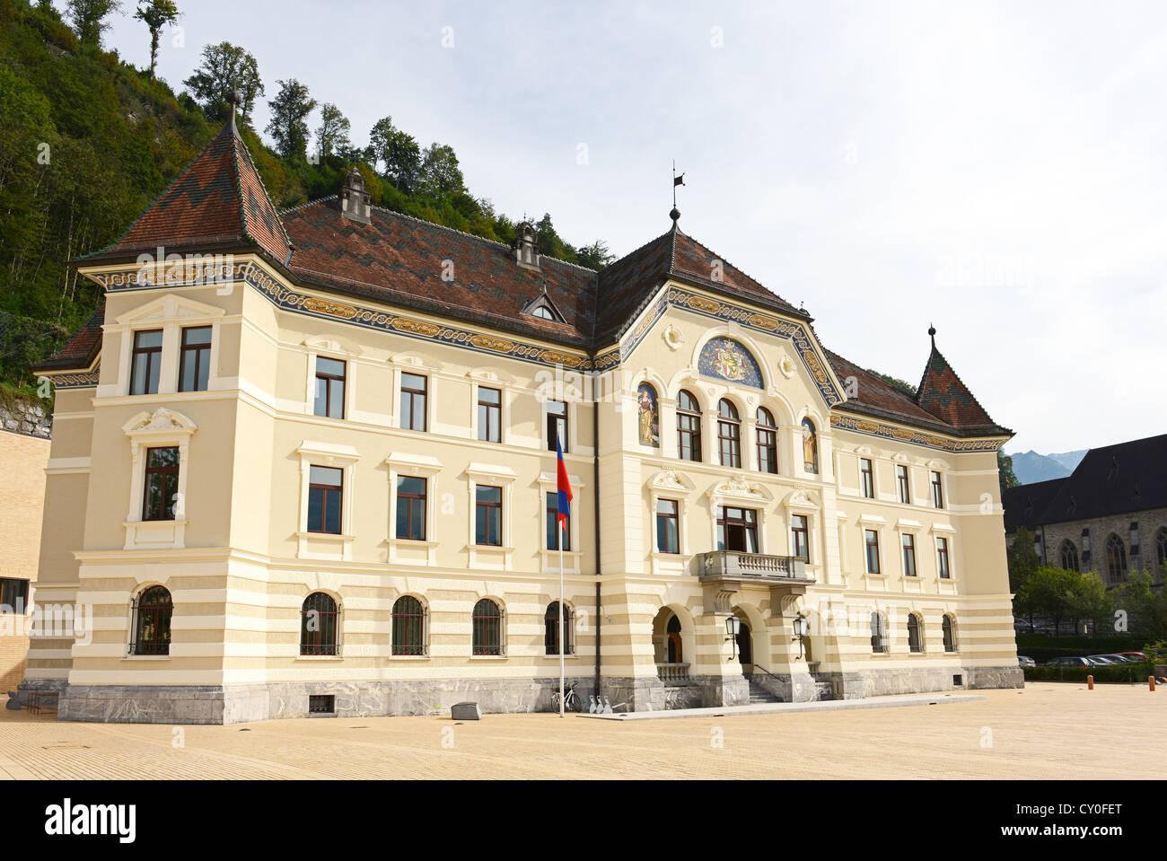 Old parliament at Vaduz at Liechtenstein Stock Photo